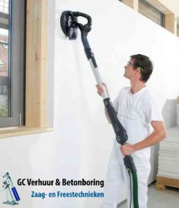 Plafond-wand-schuurmachine